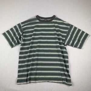 Vintage 90s Guess Inspired Striped T Shirt Large